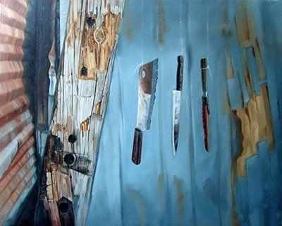 Javier Ampudia / Para comer con tenedor, 100 x 80 cm