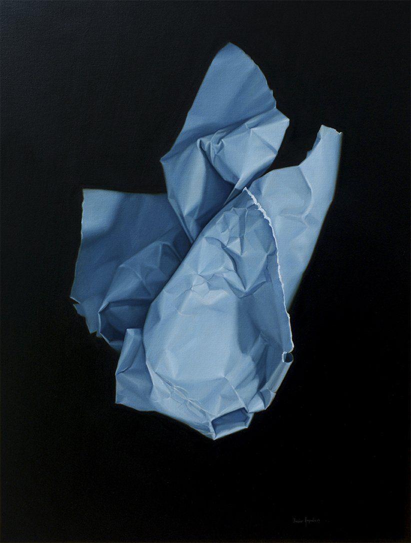 """""""Anunciación"""". De la serie: """"A espaldas de la noche"""". 2019. 80cm x 60cm. óleo/lienzo."""